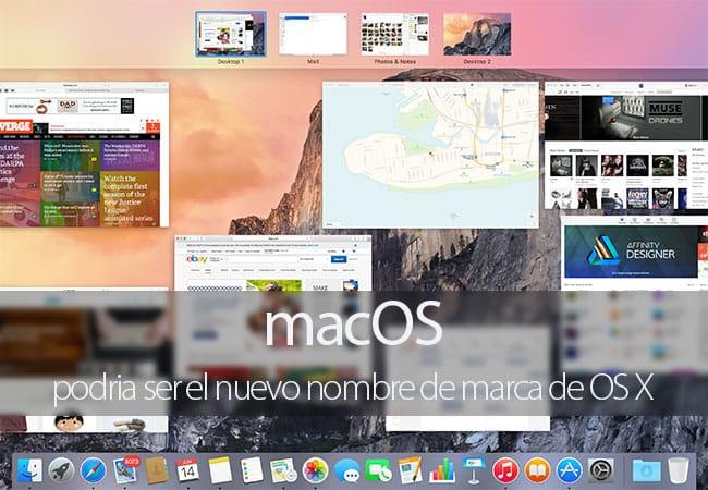 macOS posible nueva marca de OS X