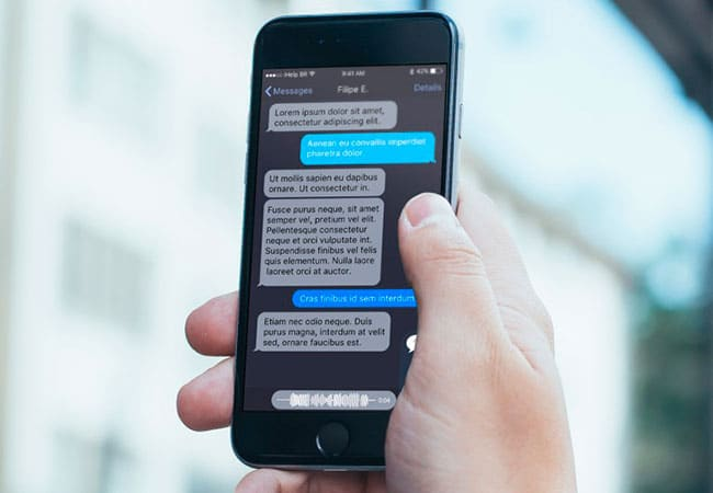 Modo oscuro en mensajes de iOS 10
