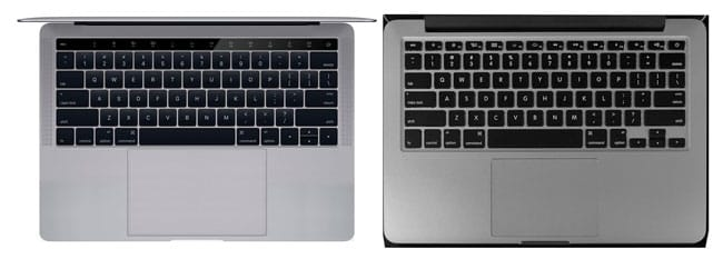 Concepto de MacBook Pro vs MacBook Pro actual