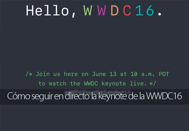 Seguir la keynote de la WWDC16 en directo