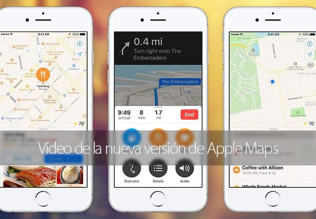 Novedades de los mapas de iOS 10 en vídeo