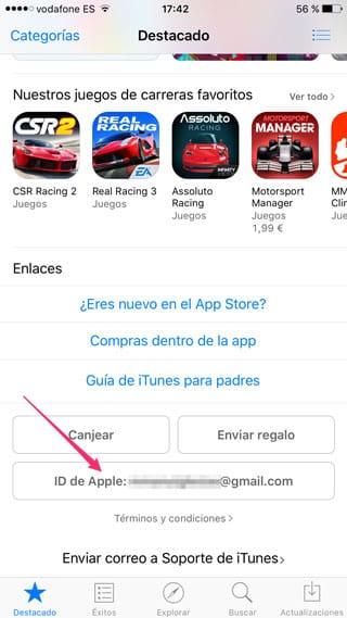 Apple ID en la App Store