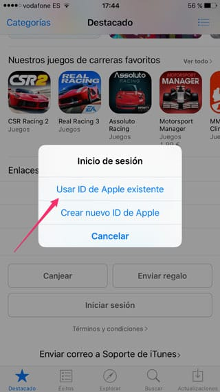 Apple ID existente