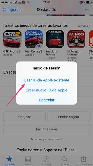 Apple ID existente
