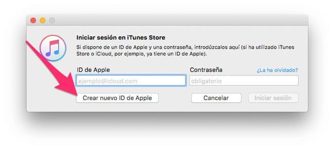 Crear nuevo Apple ID