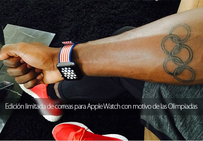 Edición limitada de correas con los colores de países participantes en los Juegos Olímpicos