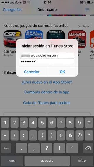 Identificación en la App Store USA