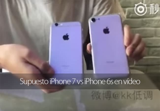 iPhone 7 vs iPhone 6s en vídeo