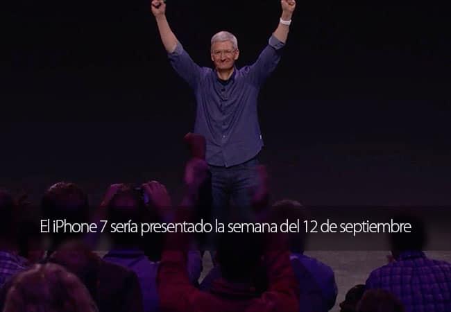 La presentación del iPhone 7 podría celebrarse la semana del 12 de septiembre