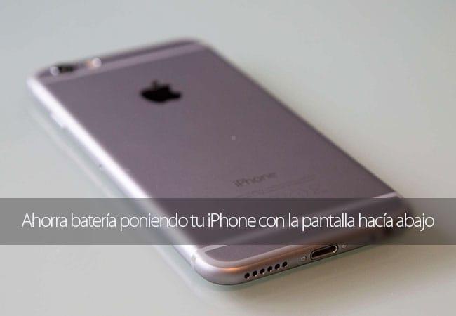 Ahorra batería poniendo el iPhone boca abajo