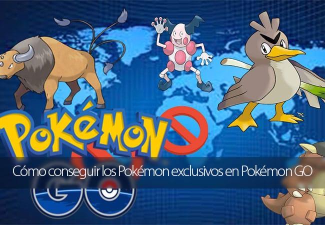 Cómo conseguir los Pokémon exclusivos en Pokémon GO