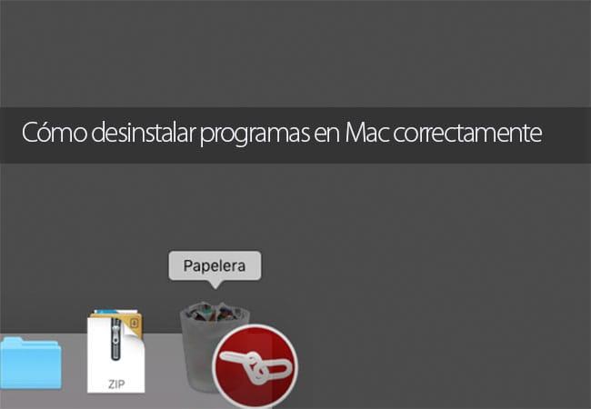 Desinstalar programas en Mac