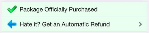 Devolución de compras en Cydia