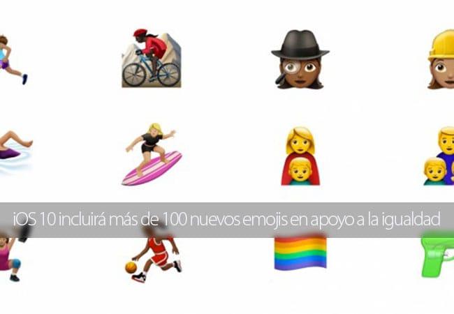 iOS 10 incluirá más de 100 nuevos emojis en apoyo a la igualdad