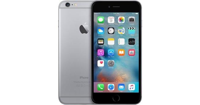 Frontal iPhone 6s negro