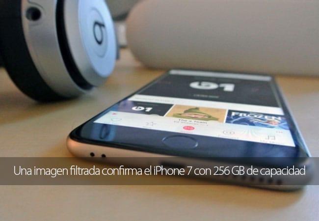 El iPhone 7 podría tener 256 GB de almacenamiento