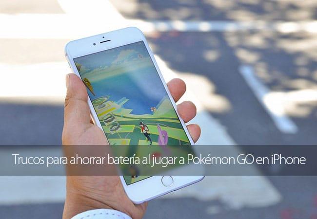 Trucos para ahorrar batería al jugar a Pokémon GO en iPhone