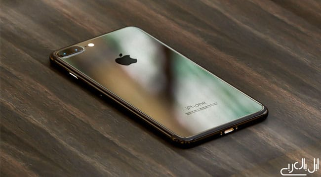 Concepto de iPhone 7 en color negro piano