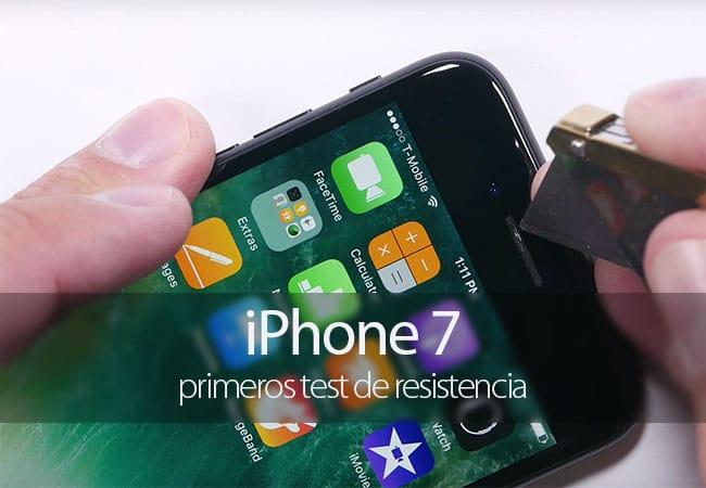 Primer test de resistencia del iPhone 7