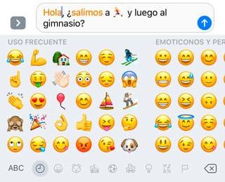 Sustitución automática de palabras por emojis