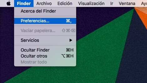Preferencias de Finder de Sierra