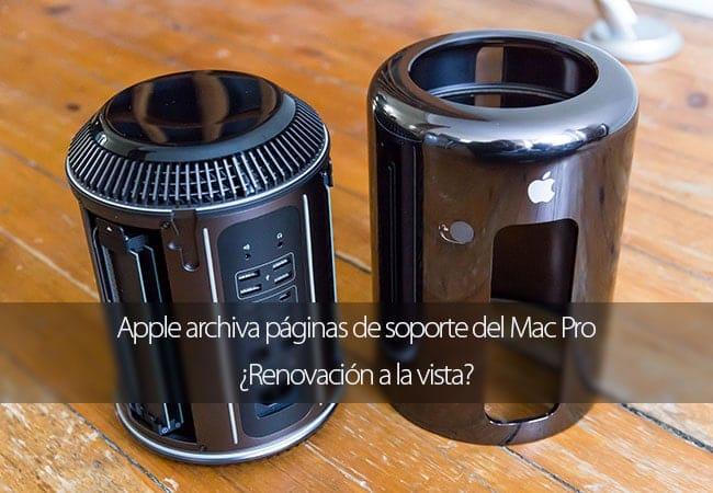 Apple archiva páginas de soporte del Mac Pro ¿Renovación a la vista?