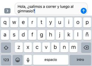 Teclado de Mensajes de iOS 10