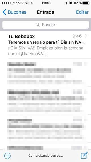 Abrir Mail en iOS 10