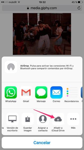 Añadir a iCloud Drive