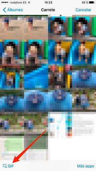 Buscador de GIFs de WhatsApp