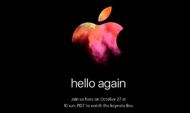 Hello Again, invitación al nuevo evento de Apple