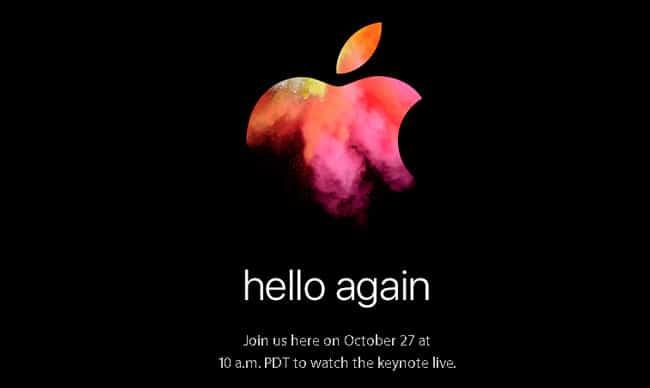 Hello Again, invitación al nuevo evento de Apple