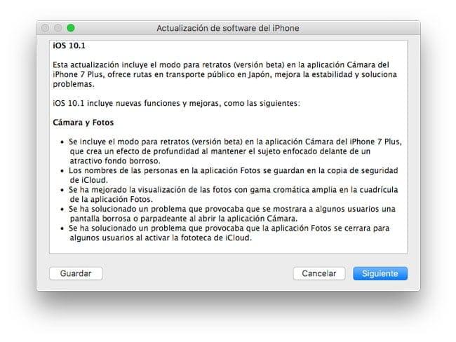 iOS 10.1 novedades