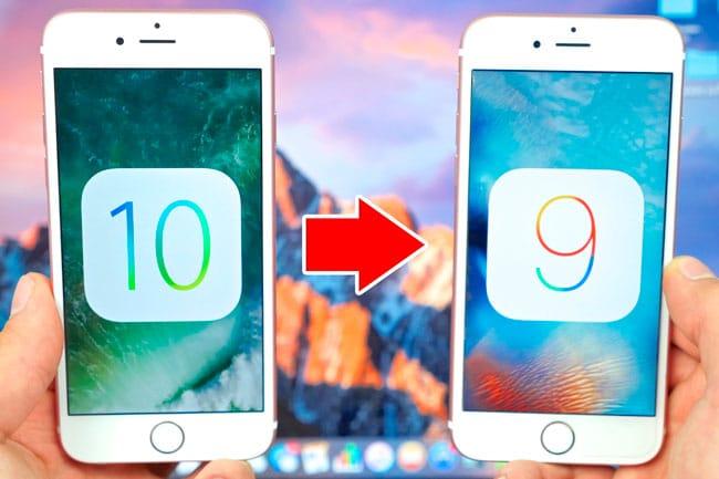 ¿Es posible volver de iOS 10 a iOS 9?
