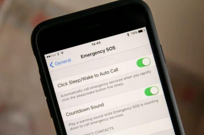 Llamada emergencia iOS 10
