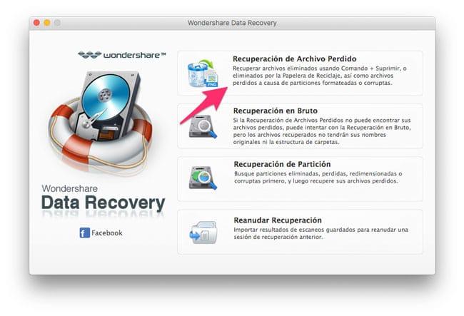 Recuperación de archivos perdidos