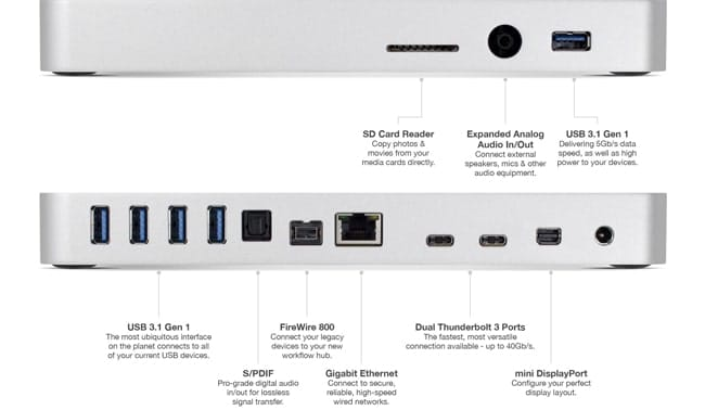 Thunderbolt 3 dock para MacBook Pro