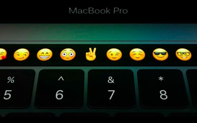 Touch Bar del nuevo MacBook Pro
