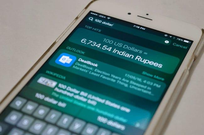 Truco para acceder muy rápido a Spotlighy desde dentro de una app en iOS 10