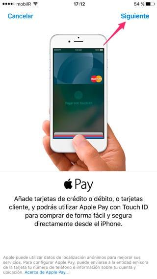 Bienvenida Apple Pay