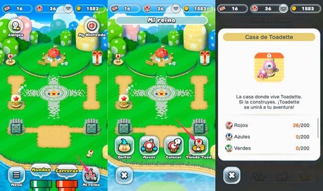 Desbloquear a Toadette en Super Mario Run
