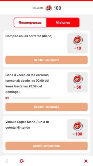 Misiones en Super Mario Run