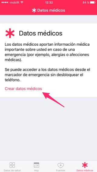 Crear datos médicos