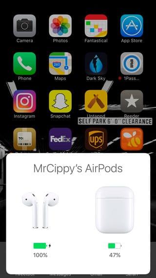 Nivel de batería AirPods