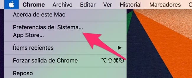 Preferencias del sistema Mac