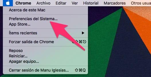 Preferencias del sistema macOS