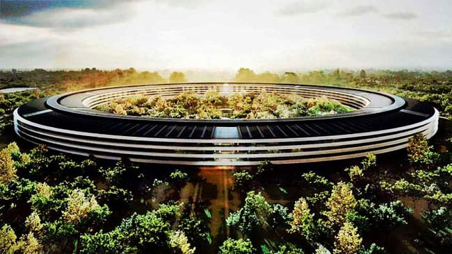 Nueva sede de Apple en la ciudad de Cupertino, Apple Park (California, EEUU)
