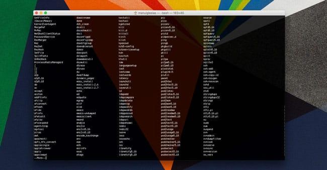 Ver todos los comandos del Terminal de macOS