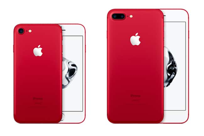 iPhone 7 rojo frontal