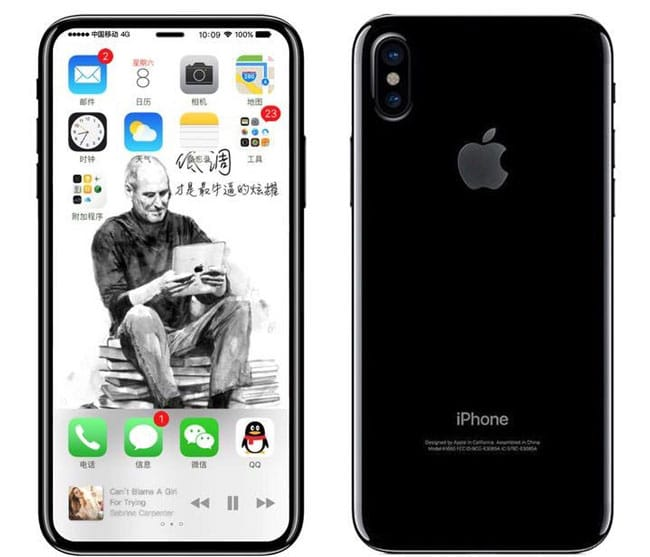 Trasera esquema filtrado iPhone 8